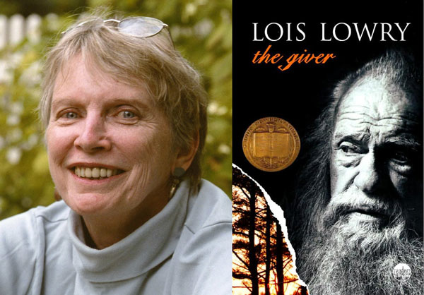 Lois Lowery and book cover