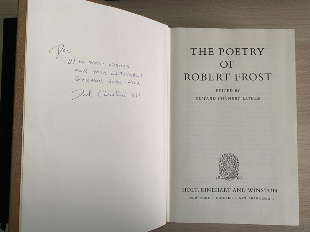 Title page and dedication, Poetry of Robert Frost
