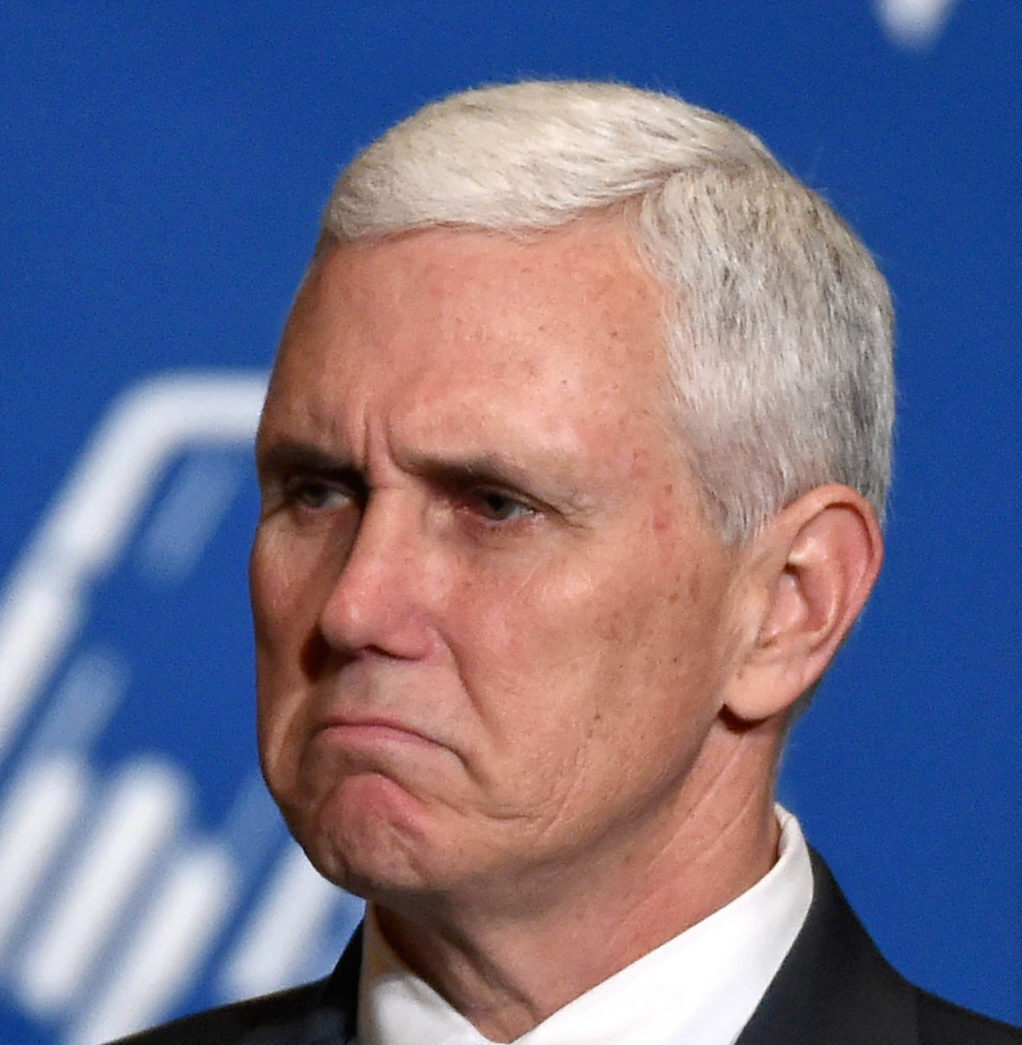 Grumpy Mike Pence.