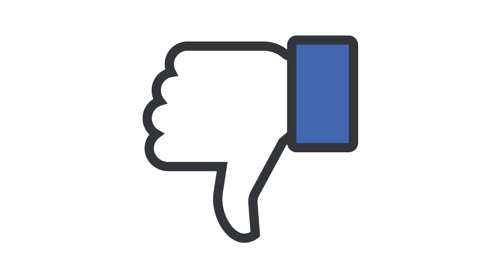 Facebook thumbs down logo
