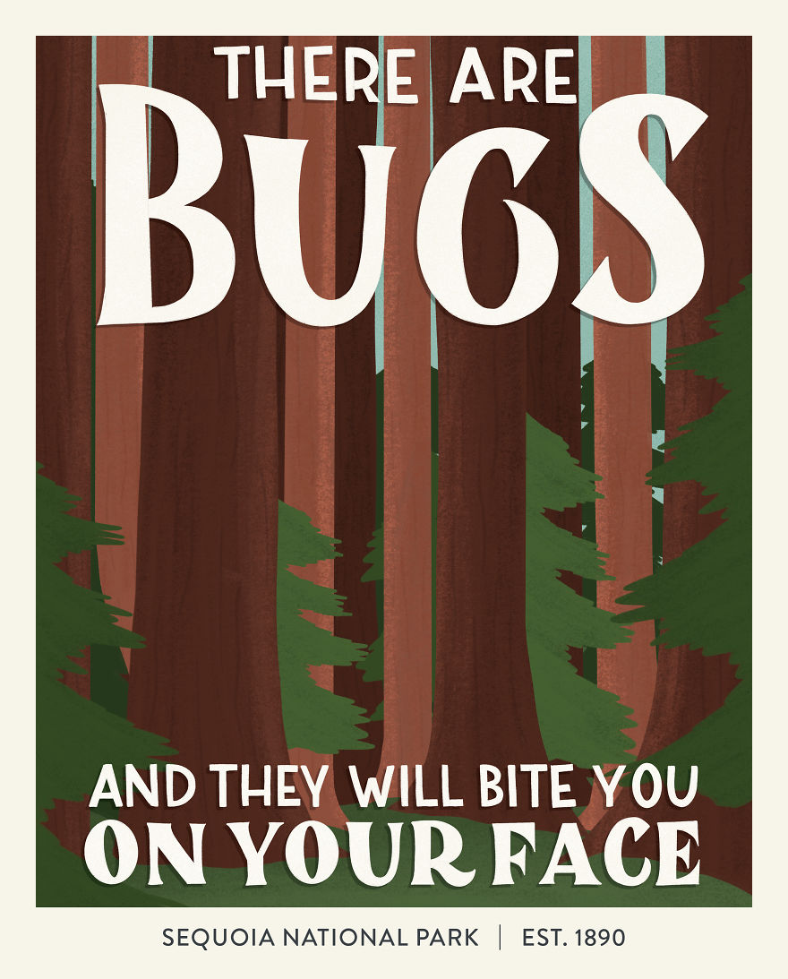 There are bugs and they will bite you on your face.
