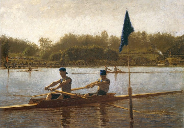 Biglin Brothers Turning the Stake, by Thomas Eakins.