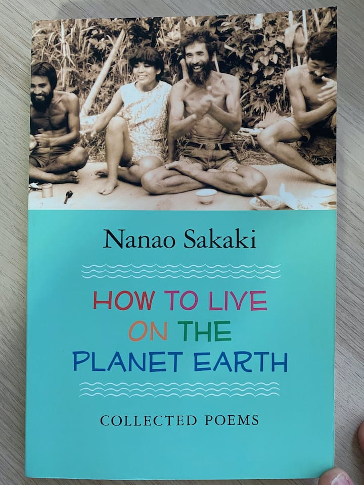 Book cover. How to Live on Planet Earth, Nanao Sakaki, 2013